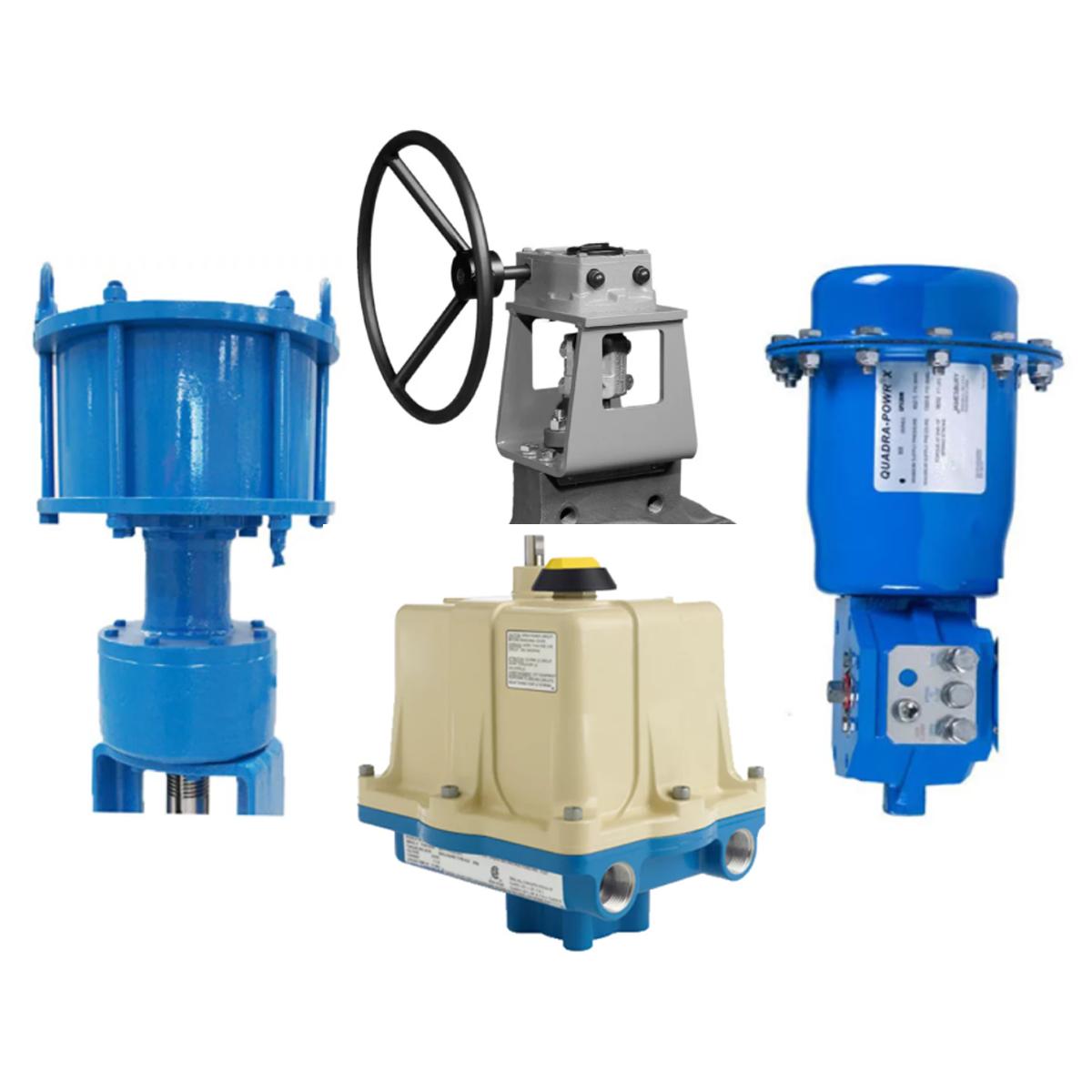 collage of valve actuators